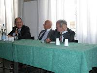 Participating in the Congress (from left to right): Leone Passerman, Head of Jewish Communities in Rome; Avi Pazner, World Chair of Keren Hayesod- UIA; Guiseppe Calderolla, Member of Italian Parliament